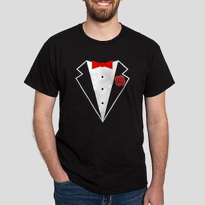 Funny Tuxedo [red bow] Dark T-Shirt